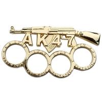 Poing américain acier inox - Design fusil AK-47