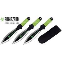 3 Couteaux de lancer 17cm couteau - Zombie BIOHAZARD