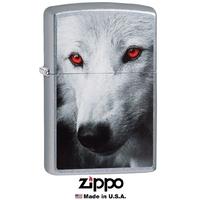 Briquet Zippo officiel - Loup wolf yeux rouge