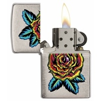 Briquet Zippo officiel - Collection Fleur tatoo.