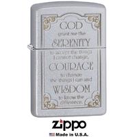 Briquet Zippo officiel - Message de prière