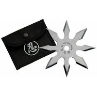 Etoile de jet 8 pics, shuriken lancer - acier inox