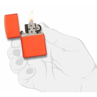 Briquet Zippo officiel - Couleur orange flashy......
