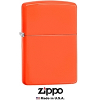 Briquet Zippo officiel - Couleur orange flashy