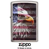 Briquet Zippo officiel - Aigle drapeau américain USA