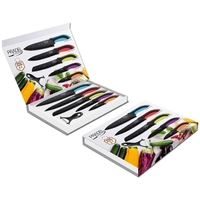 Coffret couteaux PRADEL couteau de cuisine table - Pierre noire couleur.