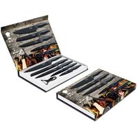 Coffret couteaux PRADEL couteau de cuisine table - Acier noir knife.