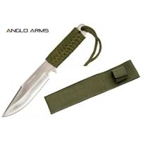 Couteau tactique 19cm paracorde poignard - vert
