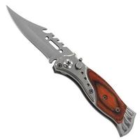 Couteau automatique 16,2cm à cran d'arrêt - bois acier