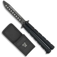Balisong couteau papillon 22,5cm titane - Entrainement K25 noir