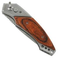 Couteau automatique 20cm à cran d'arrêt - acier bois.