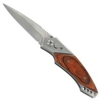 Couteau automatique 20cm à cran d'arrêt - acier bois