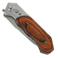 Couteau automatique 20cm à cran d'arrêt, acier bois tanto.