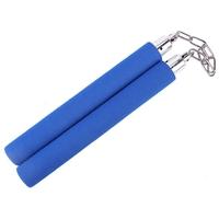 Nunchaku bleu mousse compacte - idéal entraînement