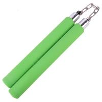 Nunchaku vert mousse compacte - idéal entraînement