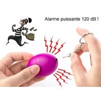 Alarme portable et compacte 120dB - Auto défense violet