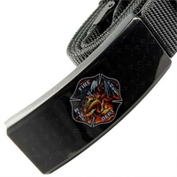 Couteau ceinture universel toutes tailles - Design pompier.