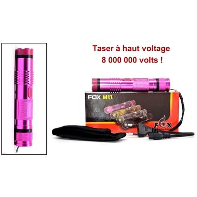 Taser shocker compact 8 000 000 volts LED - Rose pink Lady