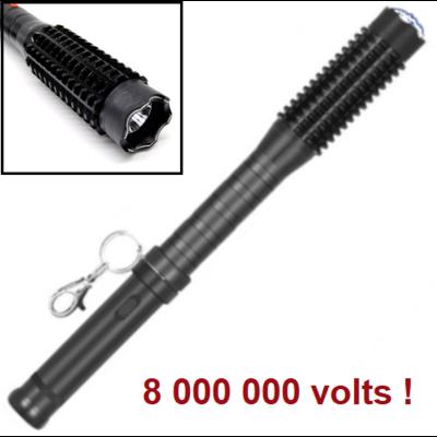 Matraque-batte taser shocker 8 000 000 volts ! LED tazer.