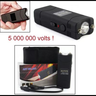 Taser shocker électrique noir + étui - Tazer 5 000 000 volts !