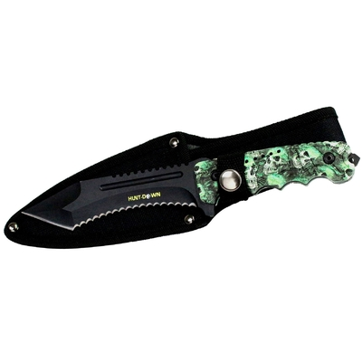 Poignard couteau Zombie 24,5cm - Full tang en acier