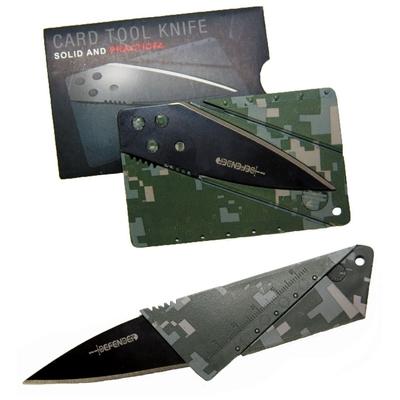 Couteau design carte bancaire camouflage