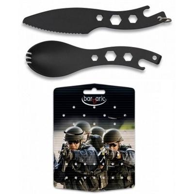 Lot décapsuleur couteau + cuillère - Camping tactique