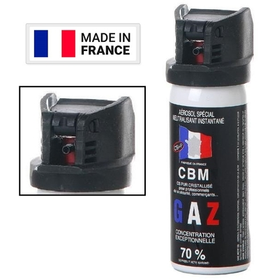 Bombe lacrymogène 50ml GAZ défense Lacrymo