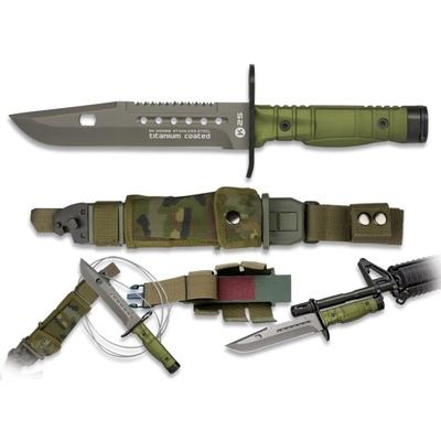 Baïonnette couteau poignard combat titane 31cm cam