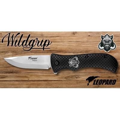Couteau pliant 21cm LEOPARD design Sanglier