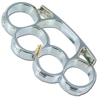 Iron_Fist_Knuckleduster_Paperweight_Buckle_Silver