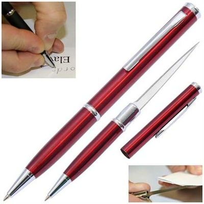 Ouvre lettre avec lame stylo - rouge RD097