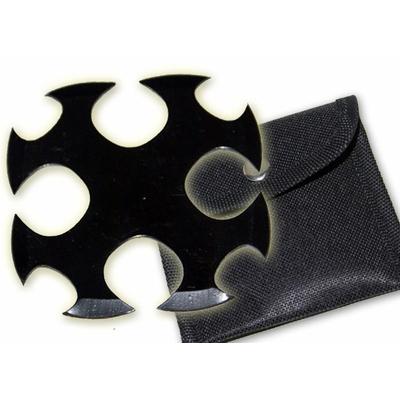 Etoile de jet + étui, shuriken - noir TK3B