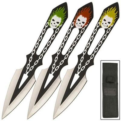 3 Couteaux lancer Joker - Couteau de jet WG122