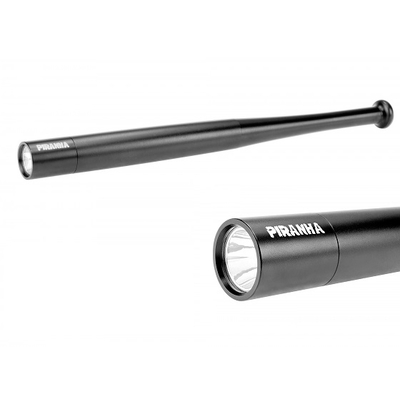 Batte 40cm + lampe torche LED - baton, matraque