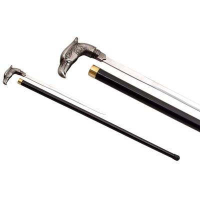 Canne épée 86cm oiseau de marche - métal