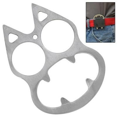 Poing américain décapsuleur acier gris + étui - discret