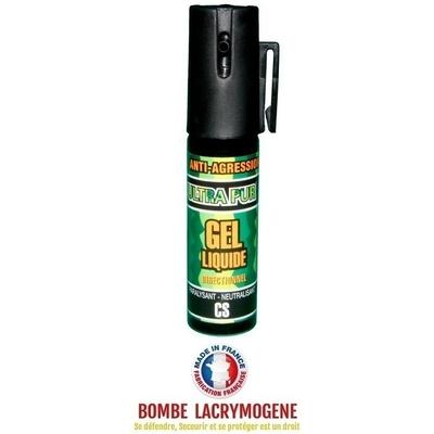 Bombe lacrymogène 25ml GEL CS - aérosol spray lacrymo defense