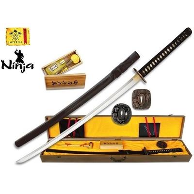 Coffret katana 105cm avec lame carbone - accessoires ninja