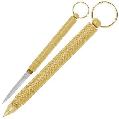 Petit baton doré de défense 14cm - matraque métal