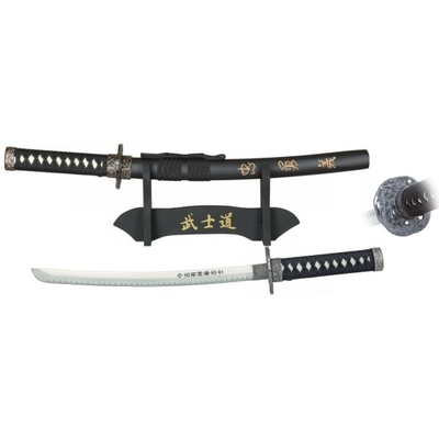 Petit katana 45cm + socle bois déco samouraï