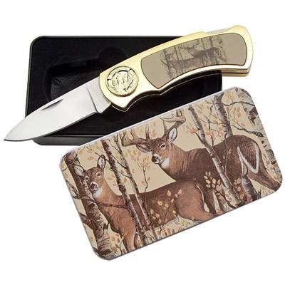 Coffret collector couteau pliant - Collection Biche Cerf