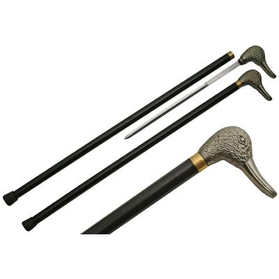 Canne épée 87,7cm de marche - Pommeau métal design Canard