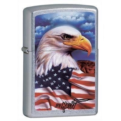 Briquet Zippo officiel - Aigle USA drapeau américain.