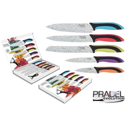 Coffret couteaux PRADEL couteau de cuisine table - Pierre blanche couleur