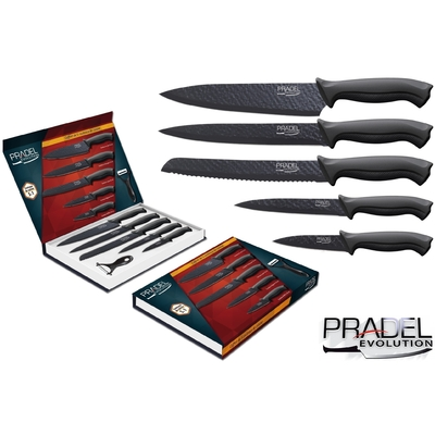 Coffret couteaux PRADEL couteau de cuisine table - Acier noir knive