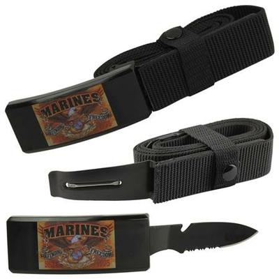 Couteau ceinture universelle toutes tailles - Les marines USA