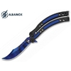 Couteau papillon balisong 23cm design bleu - ALBAINOX