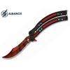 Couteau papillon balisong 23cm design rouge - ALBAINOX