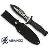 Poignard couteau 24cm noir militaire